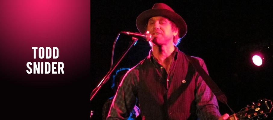 Todd Snider at Charleston Music Hall